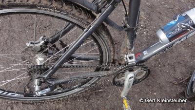 mein verschlammtes Fahrrad
