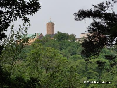 Wartburg am Ortsausgang von Eisenach
