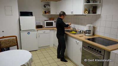 Andrea in der Herbergsküche