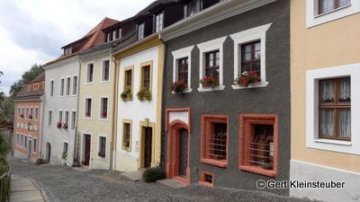 vorbildlich sanierte Häuser am Karpfengrund
