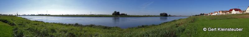 Panorama an der Elbe bei Gohlis