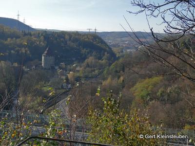 Blick über die A17 nach Freital