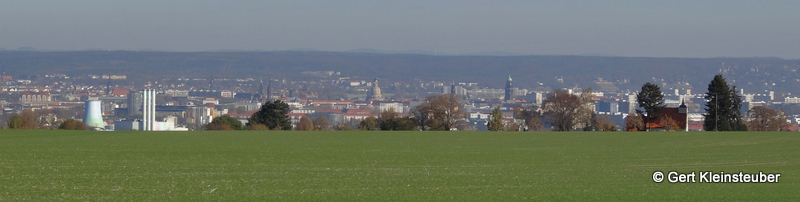 Blick ins Elbtal nach Dresden