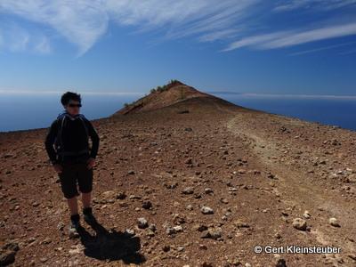 auf dem Vulkan San Martin auf La Palma