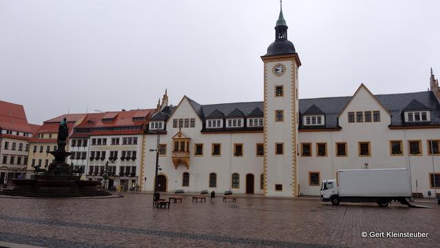 der Obermarkt von Freiberg