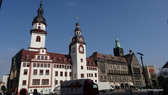 das Rathaus von Chemnitz