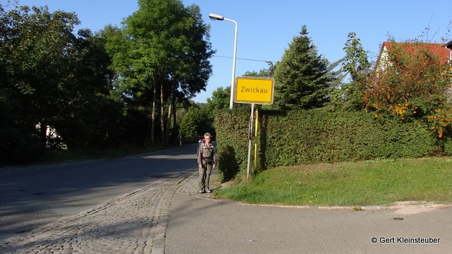 Ortseingang von Zwickau