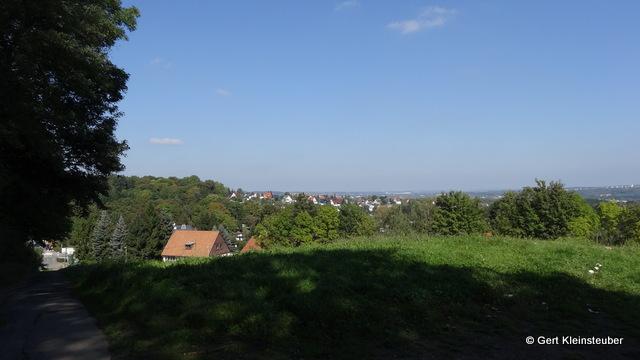 Blick von Oberplanitz in Richtung Zwickau