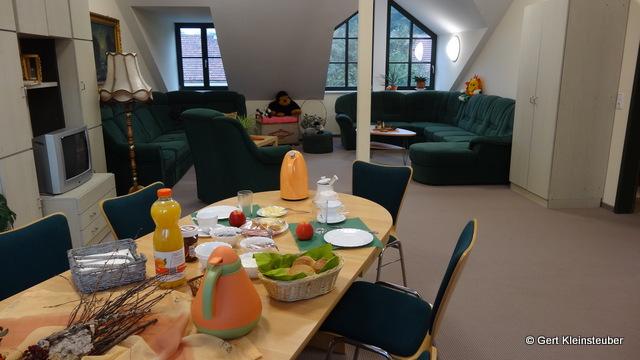 """Frühstück im """"grünen Salon"""""""