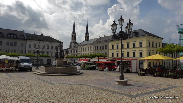 der Markt von Oelsnitz