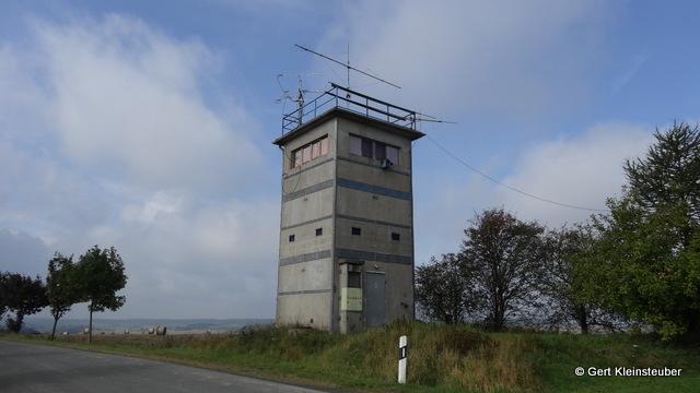 ehemaliger Wachturm an der innerdeutschen Grenze