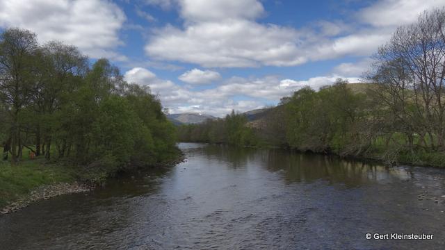 Blick von der Kirkton Bridge