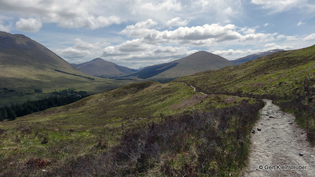 der Weg auf den Mam Carraigh