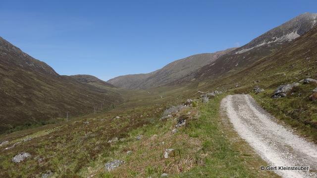 Militärstraße durch das Tal des Allt Nathrach