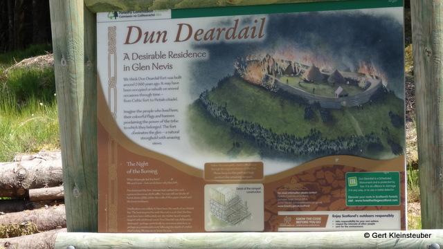 Infotafel von Dun Deardail