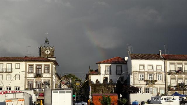 Regenbogen über Ponte de Lima