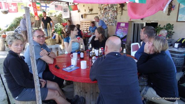 provisorische Bar bei O Alcouce
