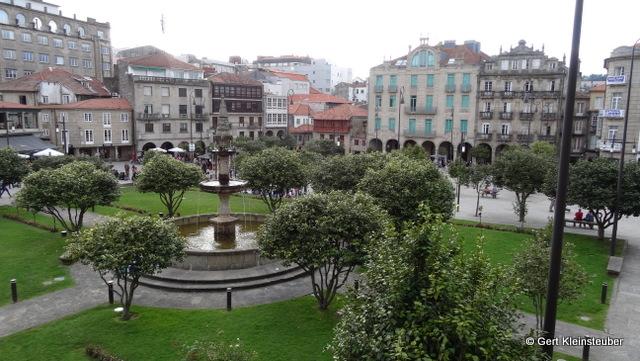 Blick über die Praza da Ferreira