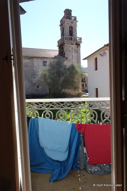 """Herberge """"El Camino"""" mit Aussicht zur Santiagokirche"""