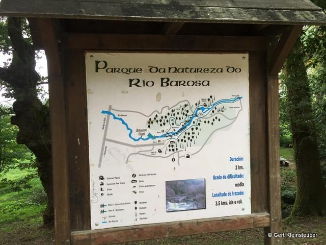 Infotafel zum Nationalpark des Rio Barosa